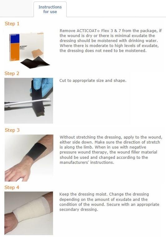 acticoat flex 3 instructions