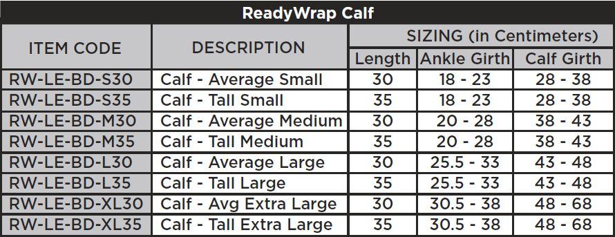 Solaris Ready Wrap Compression Calf Wrap, ReadyWrap